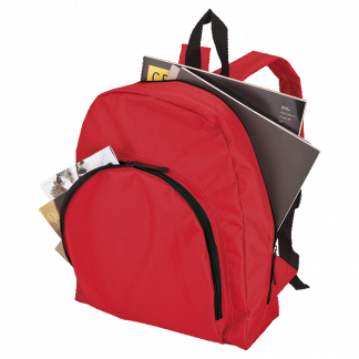 backpack with arched front pocket - 600D