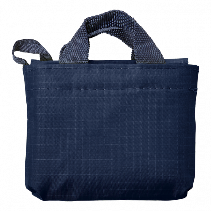 foldable shopper in blue carry