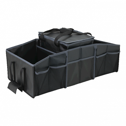 three compartment portable boot organiser removable cooler